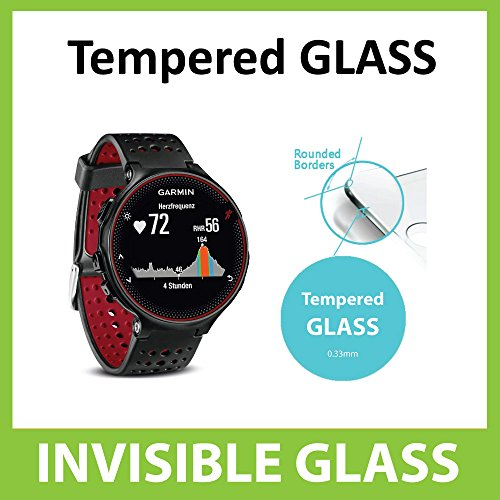 Garmin Forerunner 235 Tempered Glass INVISIBLE Screen Protector FRONT Shield Scratch Proof Protection Exclusive to ACE CASE