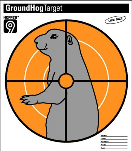 Hoppe's No. 9 Critter Target Paper, Ground Hog (Pack of 20)