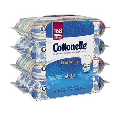 Cottonelle Fresh Care Flushable Cleansing Cloths Bundle, 168 Count