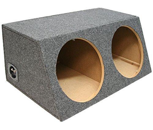 Car Audio Dual 12 Sealed Hatch Sub Woofer Enclosure Bass Speaker Gray Sub Box