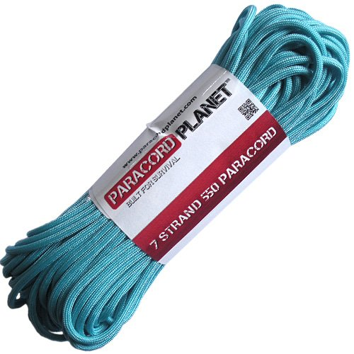 Paracord Planet 100' 550lb Type III Turquoise Paracord