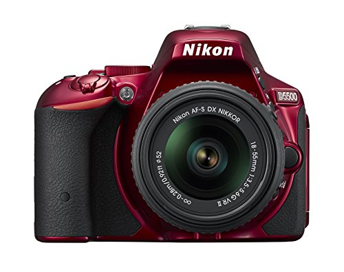 Nikon D5500 Digital SLR Camera with 18 - 55 mm VR II Lens Kit - Red