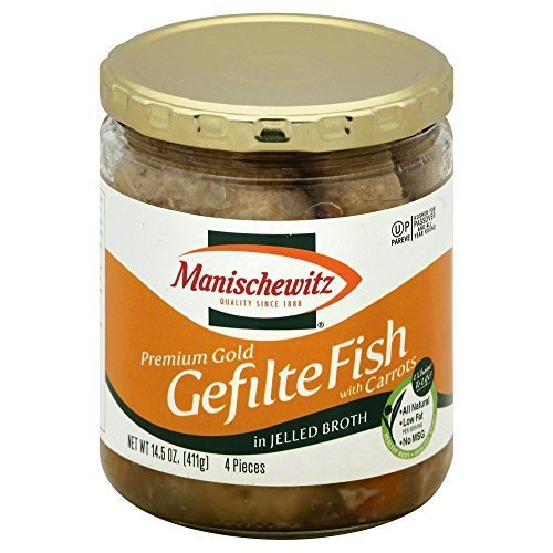 Manischewitz Premium Gold Gefilte Fish No MSG, 14.50-Ounce (Pack of 3)