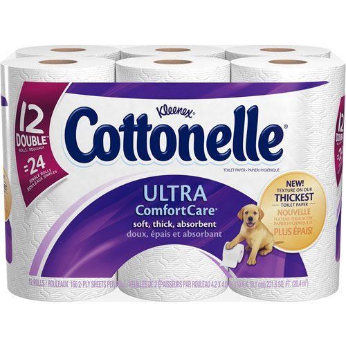 Cottonelle Ultra Comfort Care Toilet Paper Double Rolls 166 Sheets 12 ROL (Pack of 16)