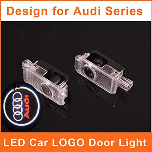 HAMIST Car Logo LED Audi Door Light Emblem Badge Projector Courtesy Welcome Laser Auto A3 A4 A5 A6 Q5 Q7 Ghost Shadow Car Styling Replacement Pack of 2