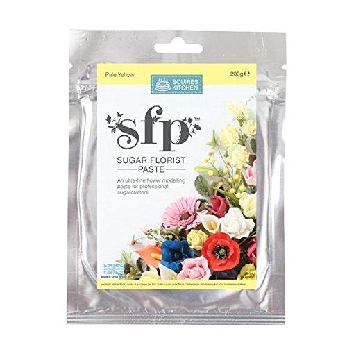 Squires Kitchen Sugar Florist Paste SFP - Pale Yellow 200g