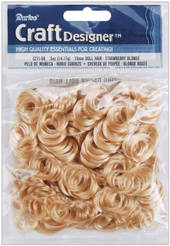 Curly Doll Hair 1/2 Ounce-Strawberry Blonde