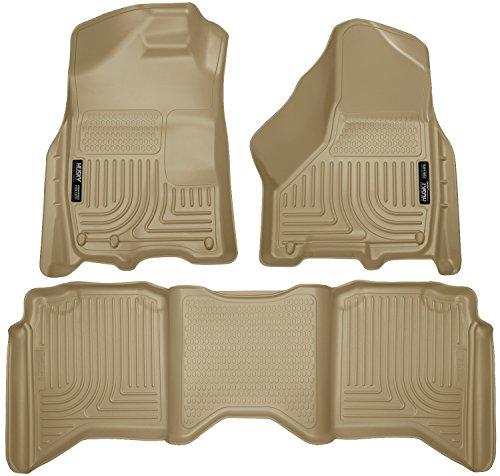 Husky Liners 99003 WeatherBeater Tan Front and 2nd Seat Floor Liner