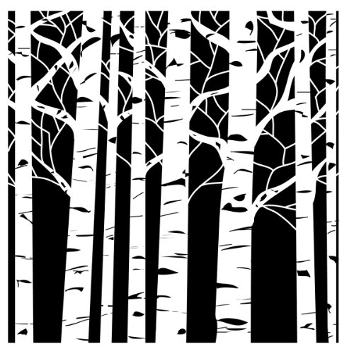 Crafters Workshop Crafter's Workshop Template, 12 by 12-Inch, Aspen Trees