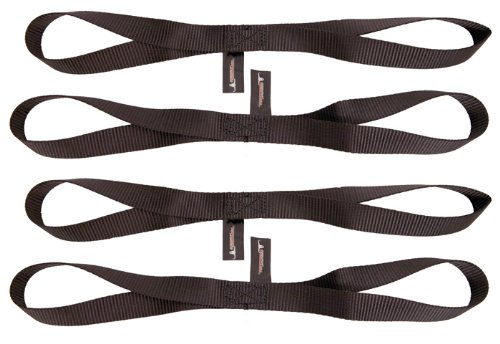Pit Posse PP167BK2 18 Soft Touch Loops Straps Extension Tie Down 4500Lbs Bs Motorcycle ATV Tie - 2 Pair