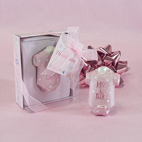Lunaura Baby Keepsake - Set of 12 Girl Baby Onesies With Thank You Card Favors Favors - Pink