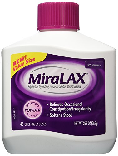MiraLAX Laxative Powder - 2 Bottles, 45 Daily Doses Each