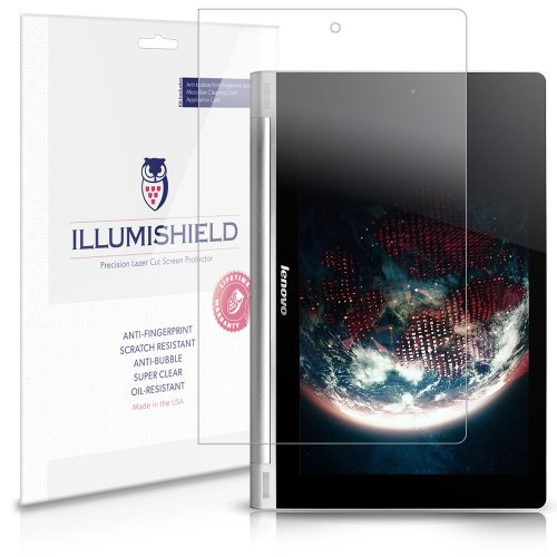 iLLumiShield - Lenovo Yoga Tab 10 Screen Protector Japanese Ultra Clear HD Film with Anti-Bubble and Anti-Fingerprint - High Quality (Invisible) LCD Shield - Lifetime Replacement Warranty - [2-Pack] OEM / Retail Packaging