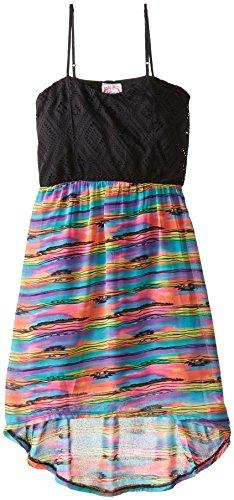 Sugah & Honey Big Girls' Texture Knit and Chiffon Dress
