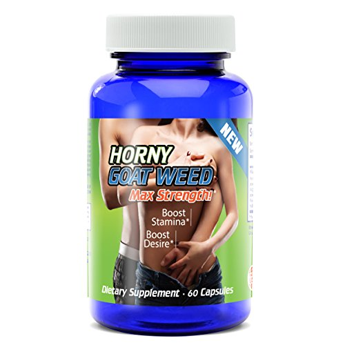 30 DAY SUPPLY - MAXIMUM STRENGTH HORNY GOAT WEED ALL NATURAL MALE ENHANCEMENT Sexual Desire Stamina with Maca
