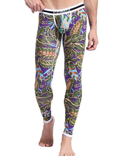 Showtime Men's Printed Compression Sports Pants Tights