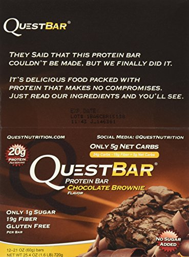 Quest Bar Chocolate Brownie -2.12 Oz. BARS , Box of 12 - 2 Pack