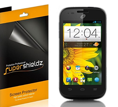[6-Pack] SUPERSHIELDZ- High Definition Clear Screen Protector Shield For ZTE Savvy Z750C (Straight Talk ,Net10) + Lifetime Replacements Warranty [6 Pack] - Retail Packaging