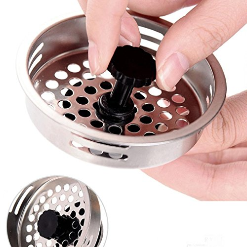 DZT1968 New Home Kitchen Sink Drain Strainer Stainless Steel Mesh Basket Strainer