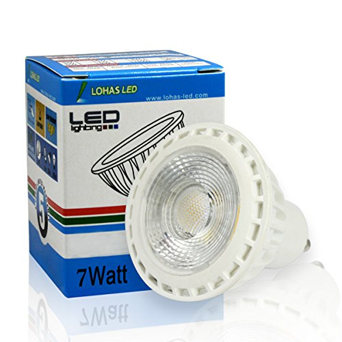 LOHAS 7W Gu10 Soft White Not-Dimmable Best LED Light Bulbs for Home,60W Replacement Bulbs,Recessed Lighting,Track Lighting