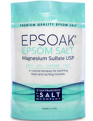 Epsoak Epsom Salt 10 Lbs - 100% Pure Magnesium Sulfate, Made in USA