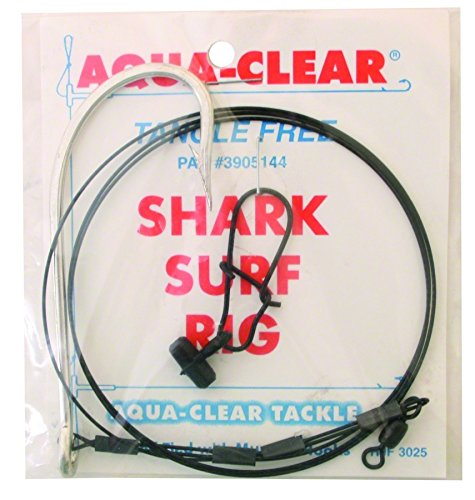 Aqua Clear SH-10 Shark Surf Rig with Fish Finder, 100-Pound, Double Crimped, 32-Inch
