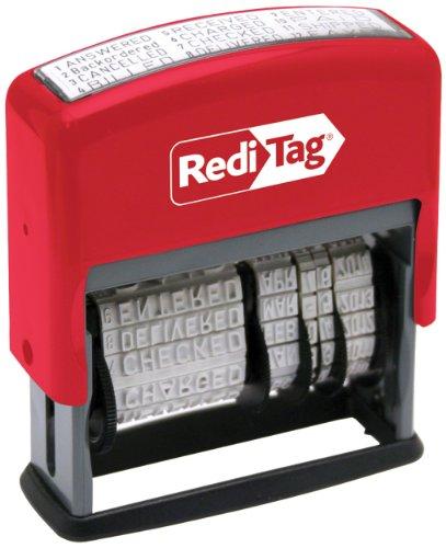 Redi-Tag-Self-Inking Standard 12 Phrase Date Stamp, Impression Size:3/16 X 2-3/16-Inch, Black-97015