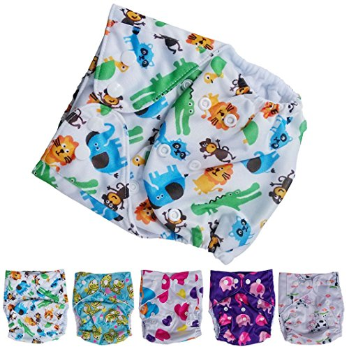 DZT1968(TM) Baby Diaper Nappy Printing Leakage Proof Reusable Lot Washable Cloth