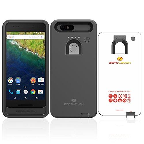 Nexus 6P Battery Case, ZeroLemon Google Huawei Nexus 6P High Capacity 8500mah Rugged Battery Case - Black