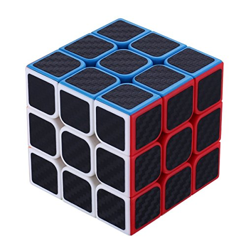 Dreampark 3x3x3 Speed Cube Carbon Fiber Sticker Smooth Magic Cube Puzzles - 100% Money Back Guarantee!