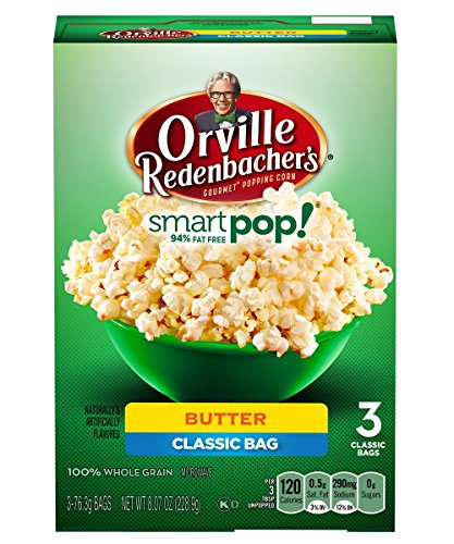 Orville Redenbacher's Pop-Up Bowl Smart Pop Butter Microwave Popcorn, 3-76.3 grams Bags (Pack of 4)