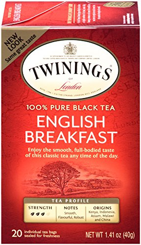 Twinings English Breakfast Tea, Tea Bags, 20-Count Boxes (Pack of 6)