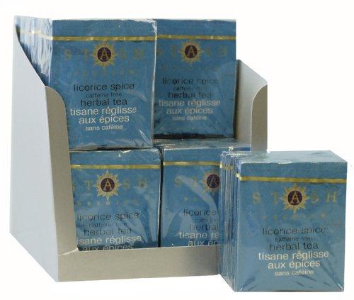 Stash Tea Licorice Spice Herbal Tea, 10 Count Tea Bags in Foil (Pack of 12)