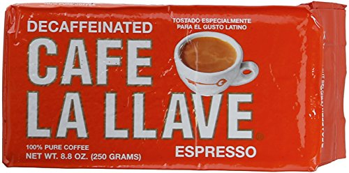 Café La Llave Decaf Bag, 8.8 Ounce (Pack of 12)