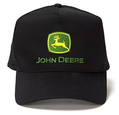 Licensed John Deere Trucker Hat Cap (One Size, Vintage Black)