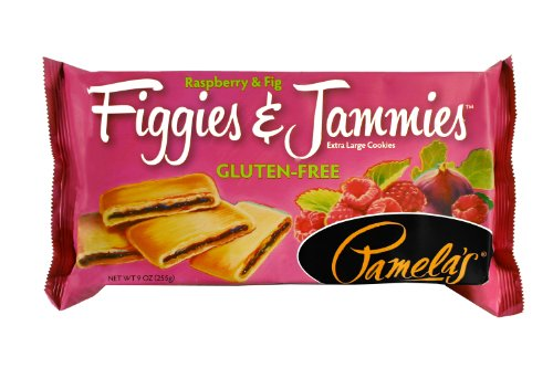 Pamela's Products Gluten Free Figgies and Jammies Cookies, Raspberry Fig, 9 Ounce