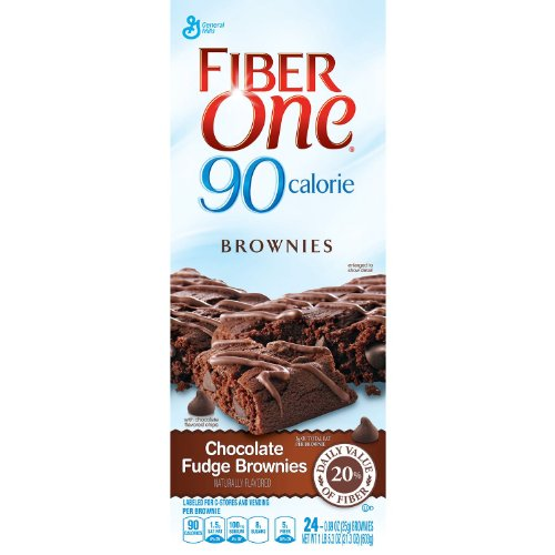Fiber One 90 Calorie Chocolate Fudge Brownies, .89 oz, 24 Count