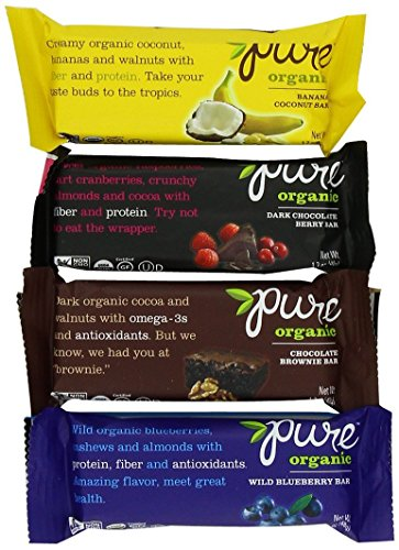 Pure Organic Fruit & Nut Bars (Pack of 12)