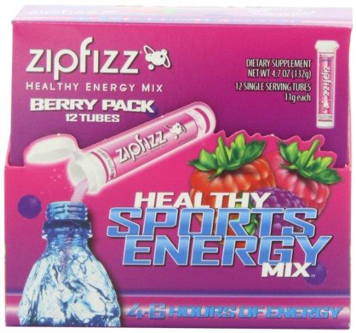 Zipfizz Healthy Energy Drink Mix, Berry, 12-count