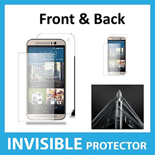 HTC One M9 FULL Body INVISIBLE Screen Protector Film (Front & Back included) Military Grade Protection Exclusive to ACE CASE