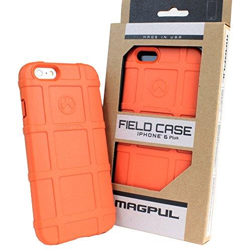 iPhone 6s Plus Case, iPhone 6 Plus Case, Magpul [Field] Polymer Case Cover MAG485 Retail Packaging for Apple iPhone 6 Plus/6S Plus 5.5 inch + TJS Tempered Glass Screen Protector (Orange)