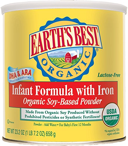 Earth's Best Organic Soy Infant Formula with Iron - 25.75 oz