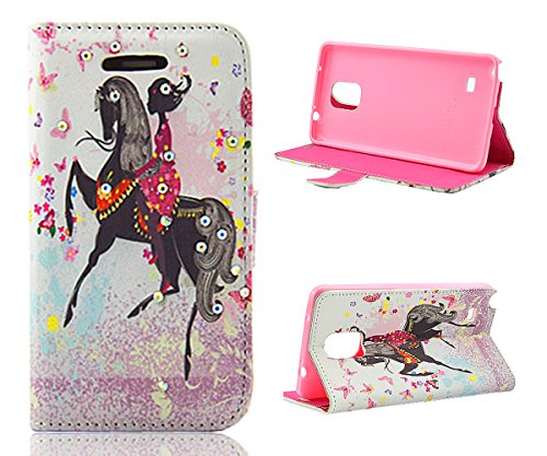 Note 4 Case,Galaxy Note 4 Case, Welity Horse Riding Girl PU Leather Wallet Type Magnet Design Flip Case Cover Credit Card Holder Pouch Case for Samsung Galaxy Note 4 and one gift