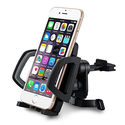 Mpow Grip Air Vent Car Mount Holder Cradle with Quick Release/Lock Button, 360 Degrees Rotation, Easy Installation for iPhone 6/6 Plus/6S, Samsung Galaxy S6/ S6 Edge/S5/S4 and Other Smartphones, Black