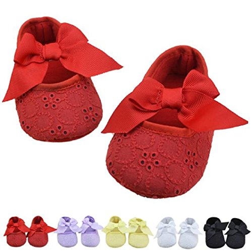 DZT1968® Baby Girl Soft Sole Bowknot Shoes Prewalker Sneakers