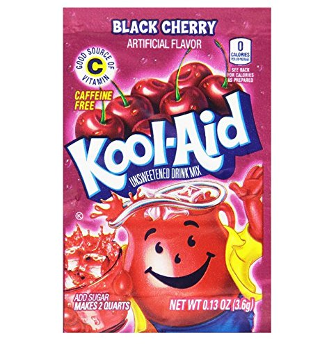 Kool-Aid Black Cherry Unsweetened Soft Drink Mix, 0.13-Ounce Packets (Pack of 192)