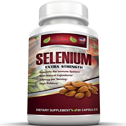 Selenium Supplement 200mcg By Pure Healthland. High Potency Organic Yeast Free Selenium Supplement Pills Essential Trace Minerals. Anti Oxidant Support Immune System, Heart, Thyroid, Prostate Health.