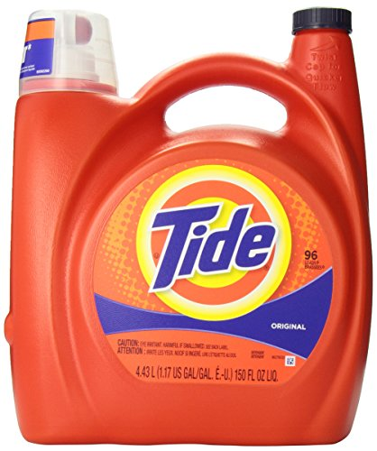 Tide Original Scent Liquid Laundry Detergent, 4.43-Liter, 96 Loads- Packaging May Vary