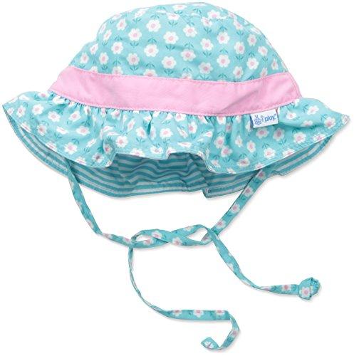 i play. Baby Girls' Reversible Ruffle Bucket Sun Protection Hat