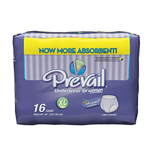 Prevail Maximum Absorbency Underwear for Women, Extra Large, 16 Count